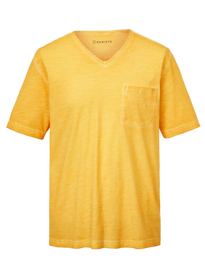 BABISTA T-shirt in used look, Geel