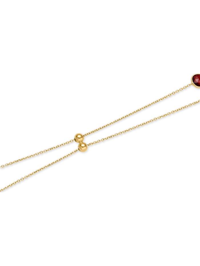CHRIST Damen-Kette 375er Gelbgold 2 Amethyst