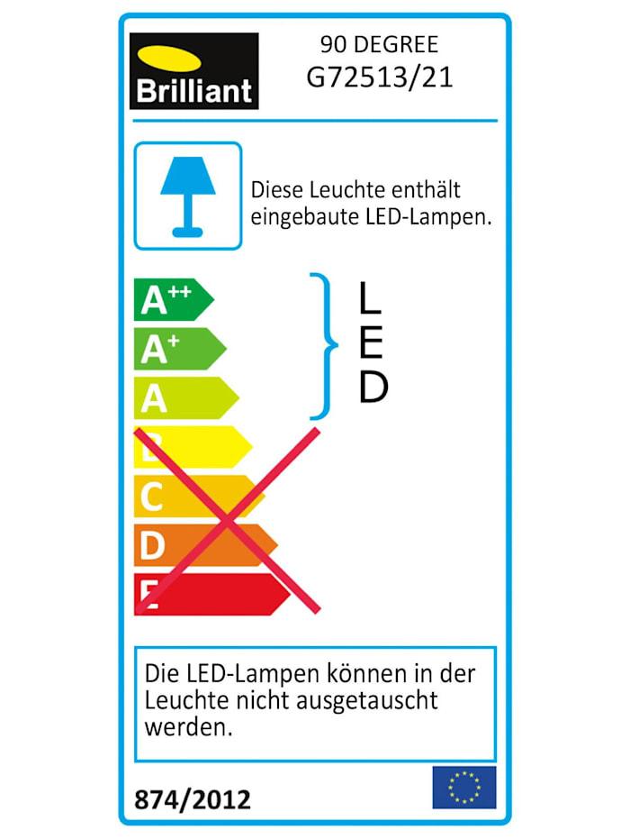 90 Degree LED Spotrohr 2flg alu