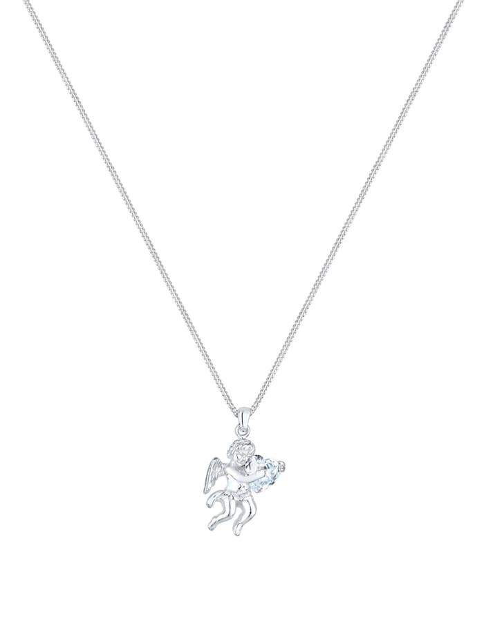 Halskette Engel Herz Zirkonia 925 Sterling Silber