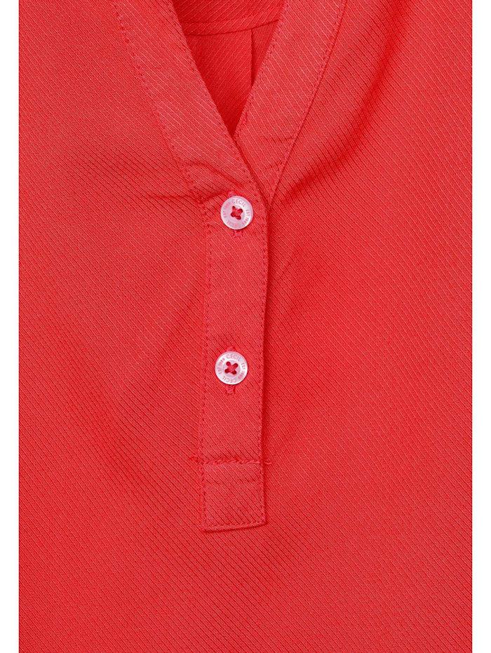 Bluse in Unifarbe