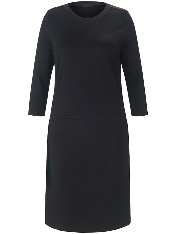 Emilia Lay Jerseykleid Viscose, schwarz