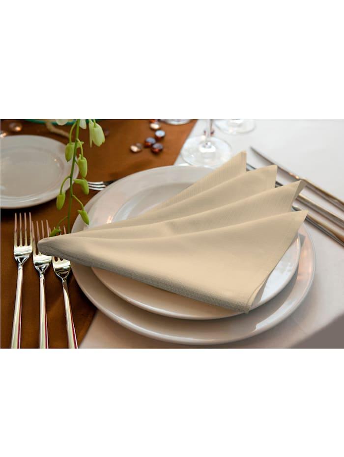 Wirth Stoffserviette und Tischset 'Uni Light Collection', Beige