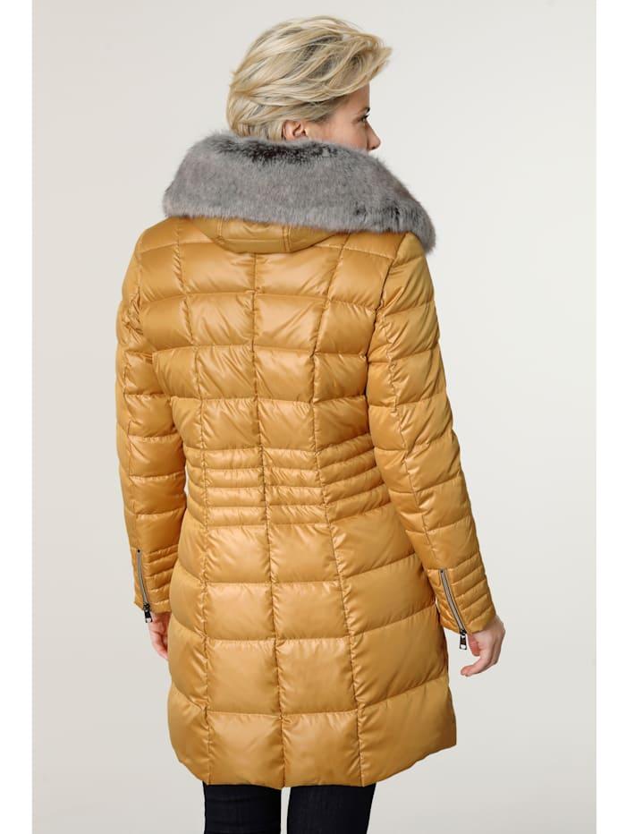 Péřová bunda s podšívkou s pěkným potiskem