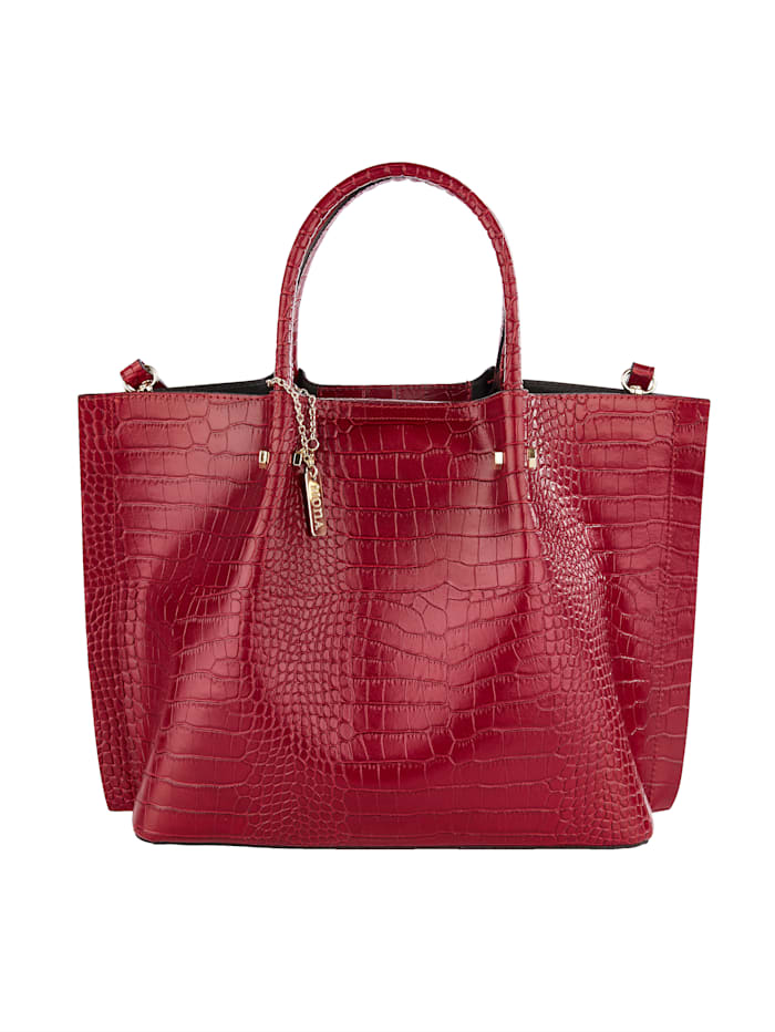 Handbag made from embossed leather 2-piece