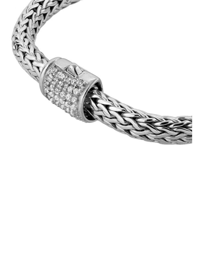 Armband Herren Panzerarmband Zirkonia Kristalle 925 Silber