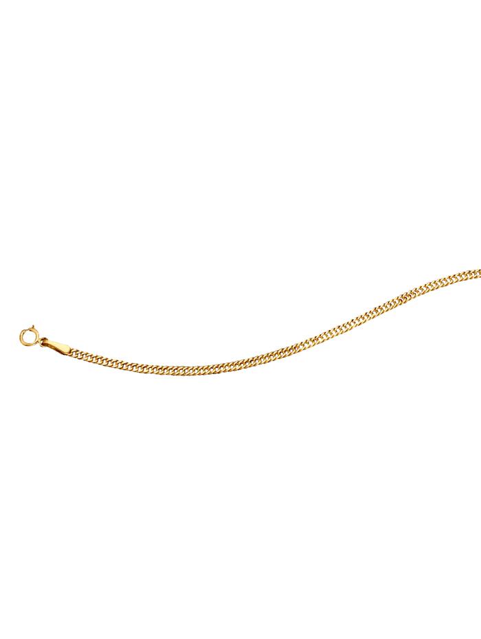 Chaîne maille chenille en or jaune, Jaune