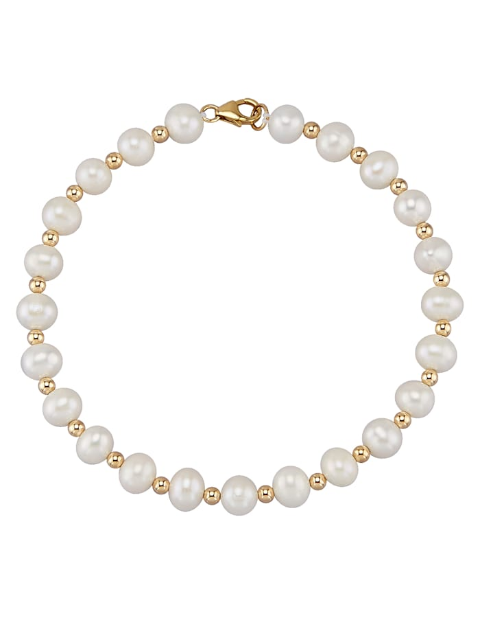 Diemer Perle Armband, Wit