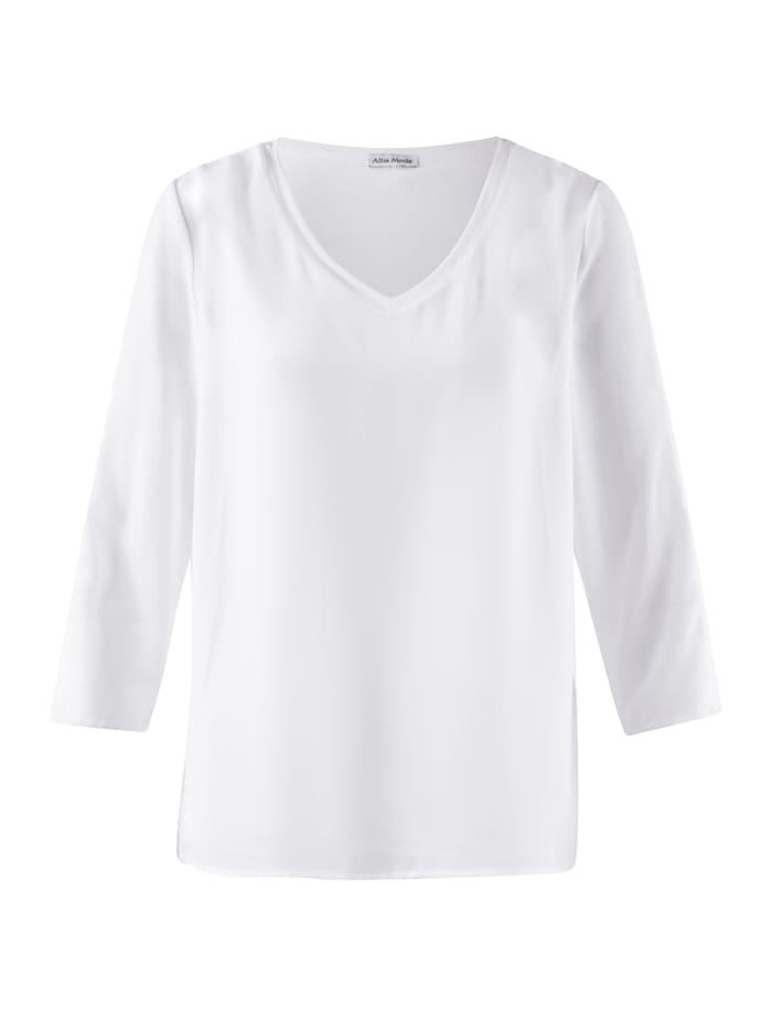 Alba Moda Bluse mit Schulter- Cut Outs, Creme-Weiß