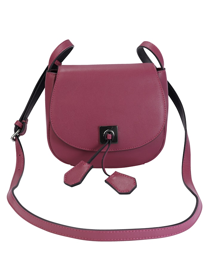 CINQUE Shoulder bag made of soft nappa leather, Berry