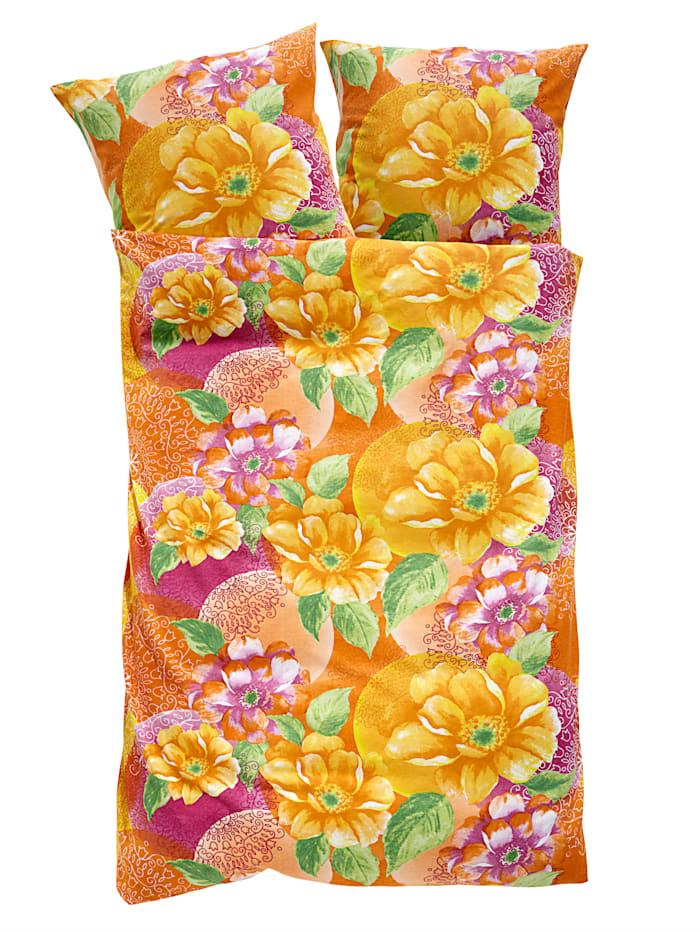 Webschatz 2-delige set bedlinnen Johanna, terra/roze