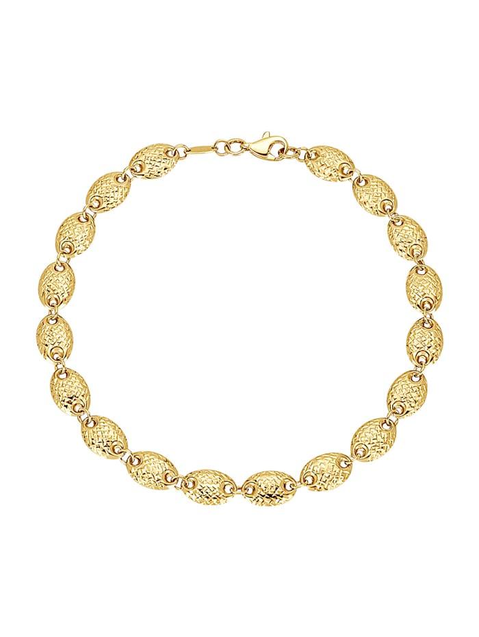 Diemer Highlights Armbånd i gull 585, Gullfarget