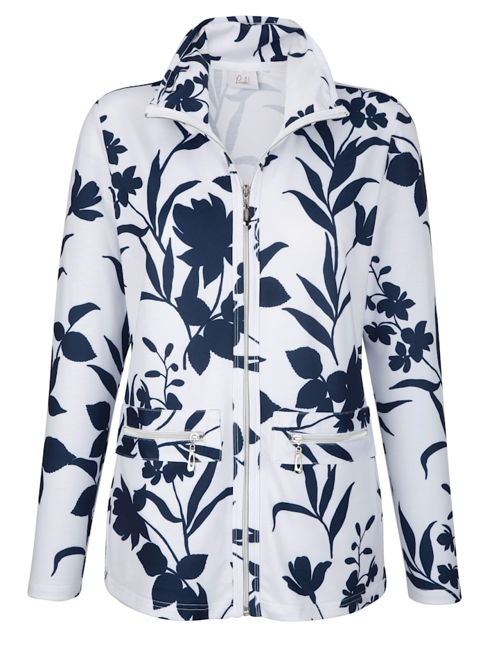 Tričkový kabátik s nariaseným stojatým golierom