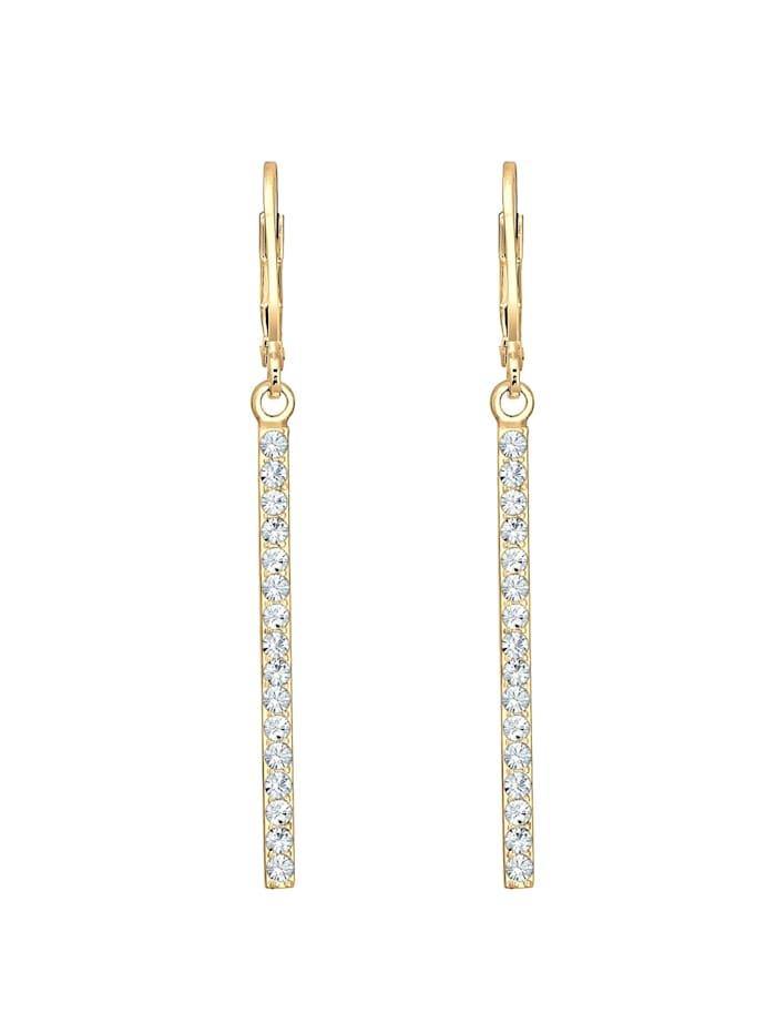 Ohrringe Geo Stab Sparkling Swarovski® Kristalle 925 Silber