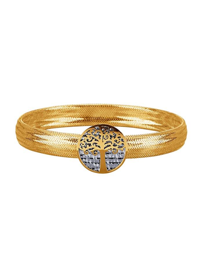Mesharmband – livets träd, Guldfärgad