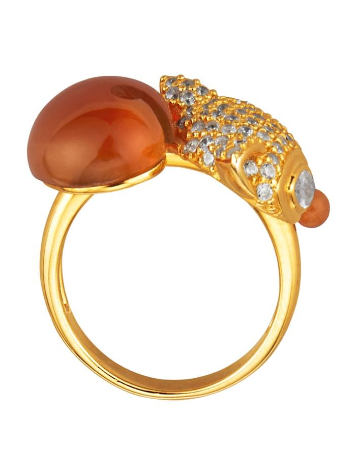 Fuchs-Ring mit roten Achaten