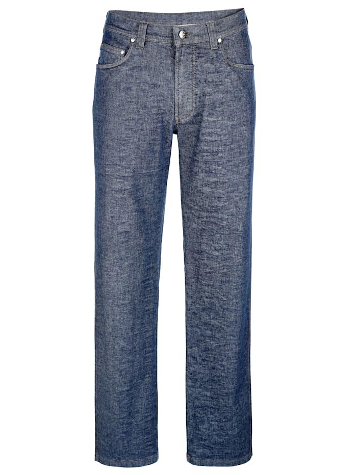 Brühl 5-pocketjeans van merkkwaliteit, Dark blue