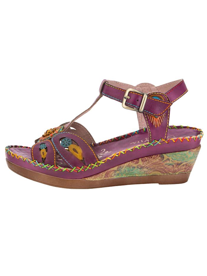 Sandales compensées avec bride ajustable en T