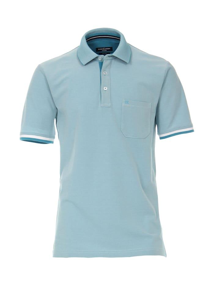 CASAMODA Polo-Shirt uni, Türkis
