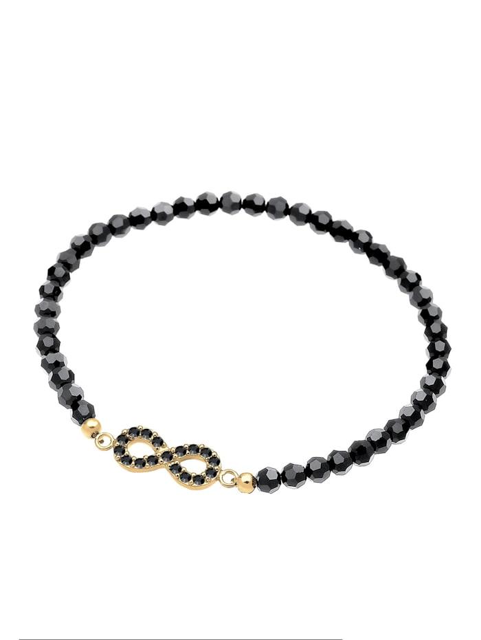 Armband Infinity Kristalle 925 Silber Noir