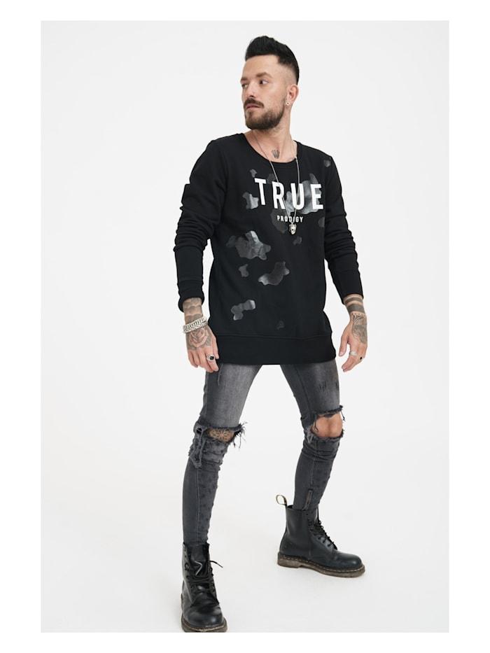 Sweatshirt Flash mit großem Markenprint