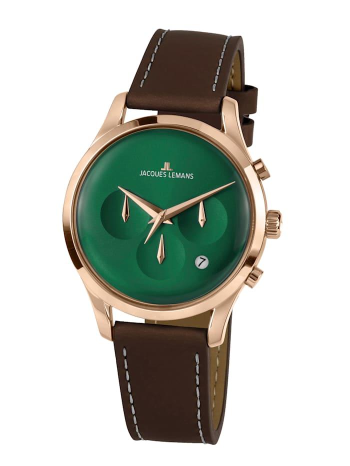 Jacques Lemans Herren-Uhr Chronograph Serie: Retro Classic, Kollektion: Retro Classic: 1- 2067H, Dunkelbraun