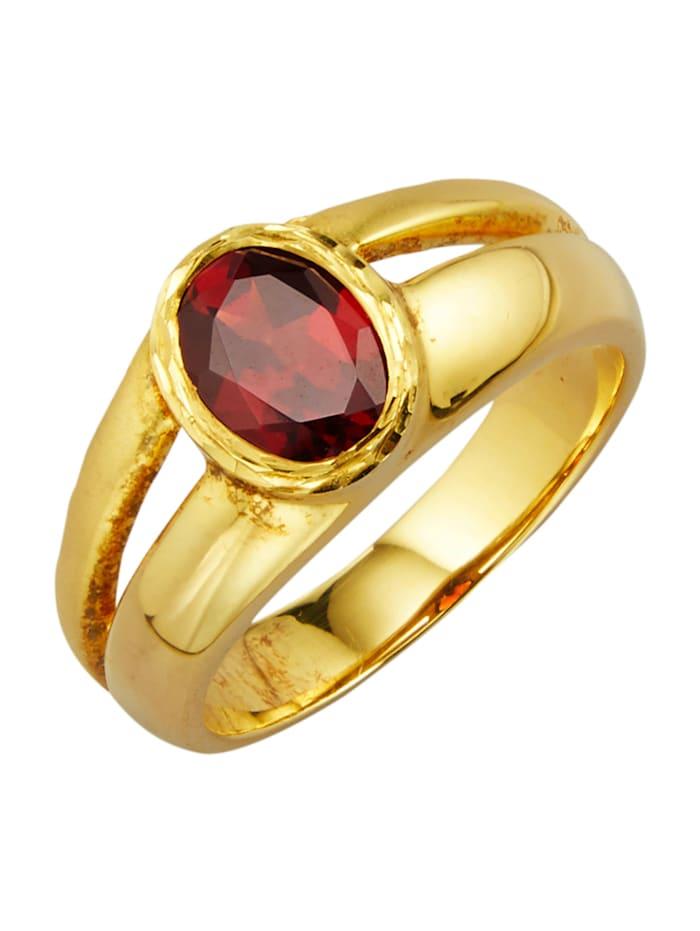 Ring i sølv 925, Rød