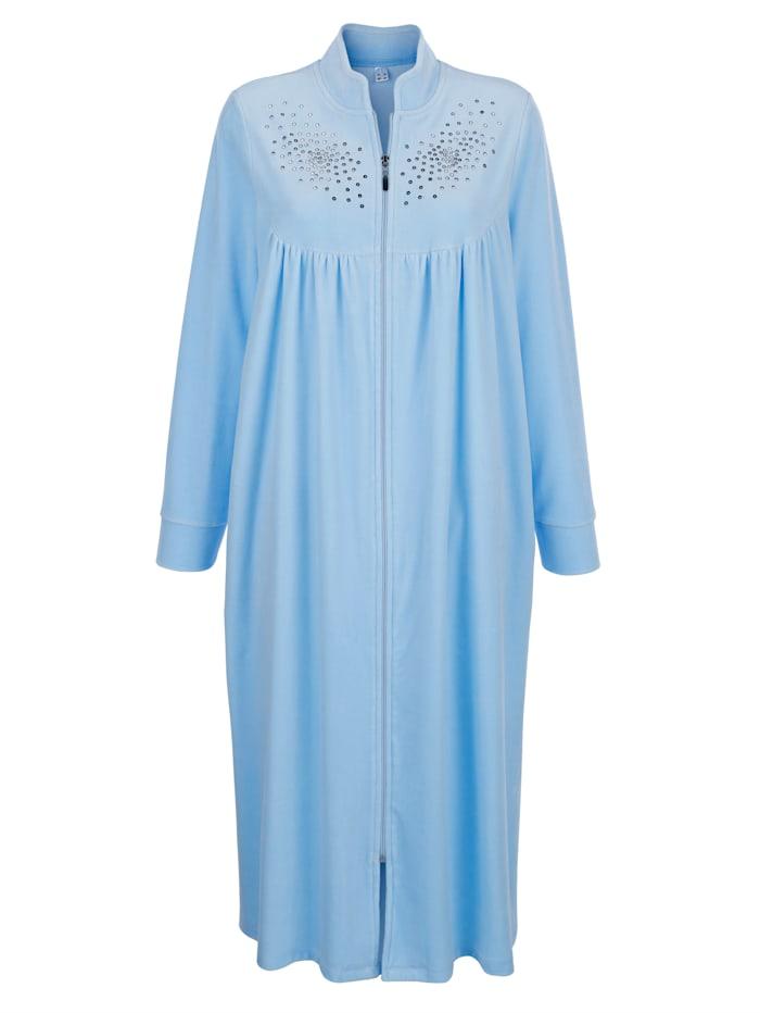 Harmony Bademantel mit hübschen Pailletten, Blau