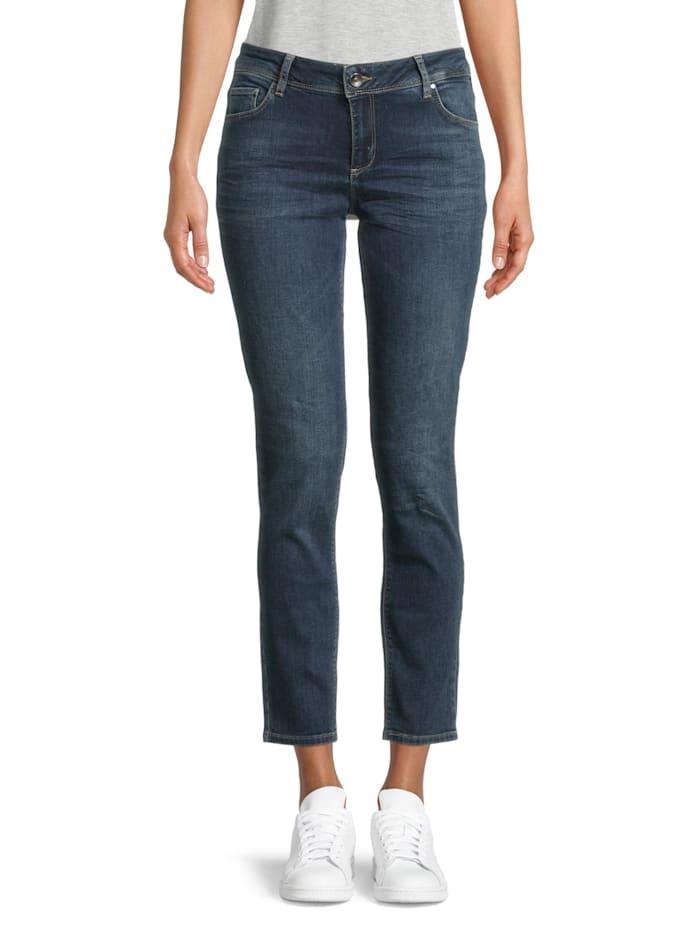 Betty & Co Basic-Jeans mit Waschung Taschen, Dunkelblau