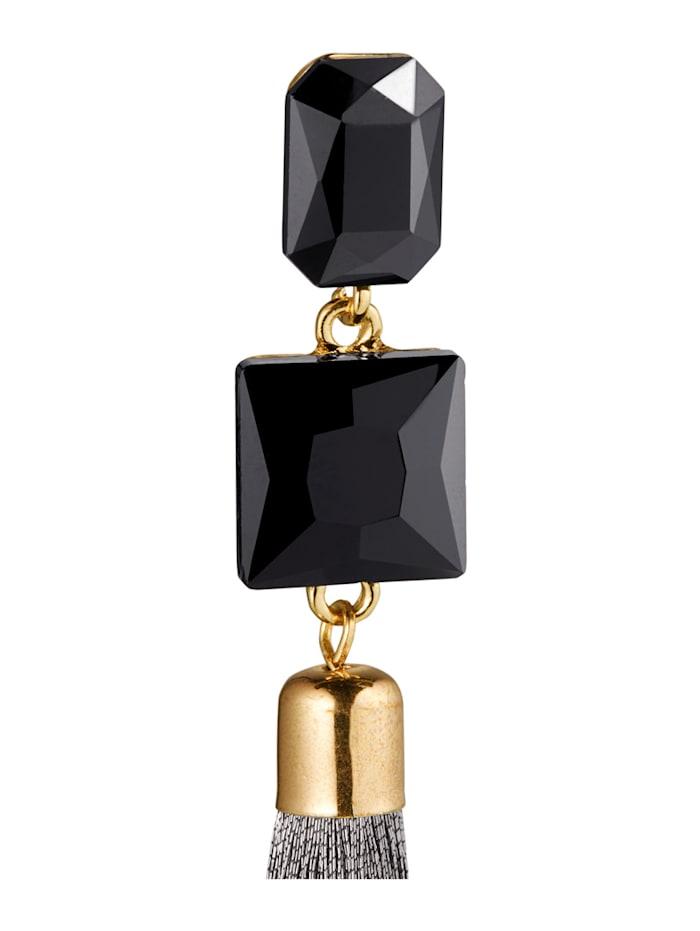 Stud Earrings with Rhinestones