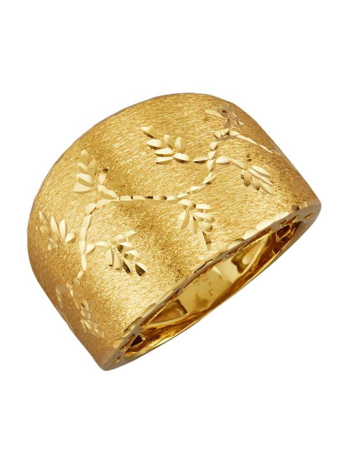 Diemer Gold Damenring in Gelbgold 585, Gelbgoldfarben