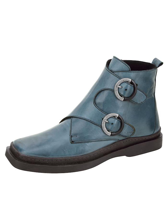 Gemini Stiefelette in Karreé-Form, Blau