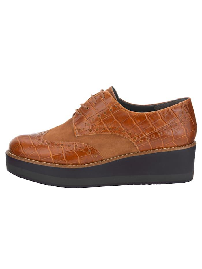 Šnurovacia obuv v kroko vzhľade