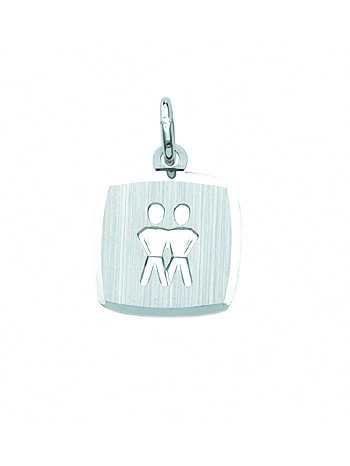1001 Diamonds Damen & Herren Silberschmuck 925 Silber Sternzeichen Anhänger Zwilling, silber
