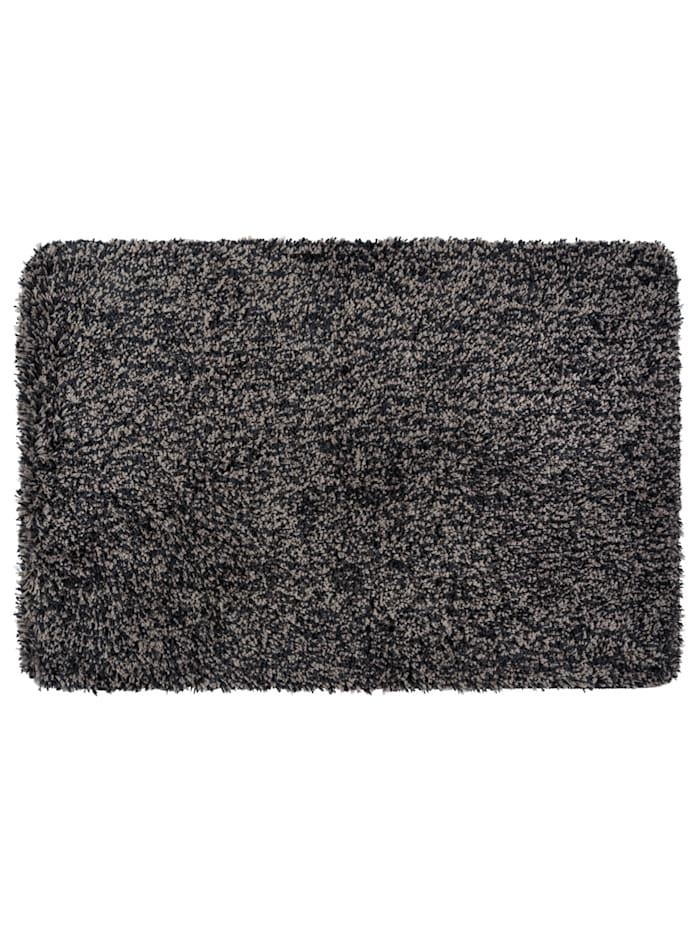 Wenko Badteppich Mélange Mouse Grey, 60 x 90 cm, Mikrofaser, Polyester/Mikrofaser: Grau