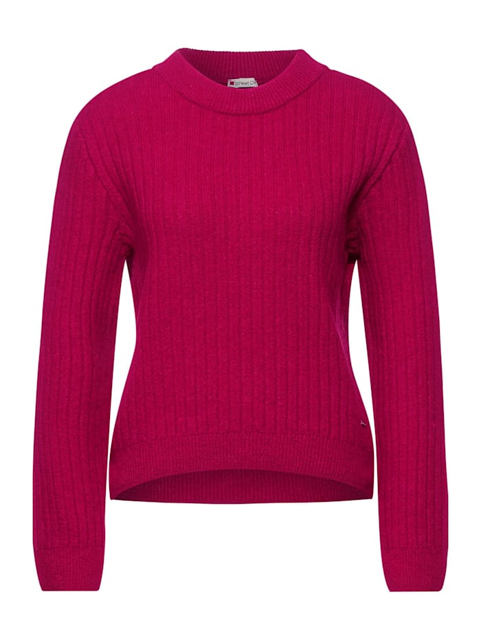 Street One Grobstrick-Pullover, raspberry pink