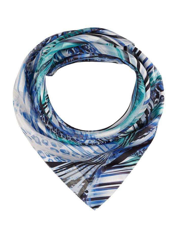 MONA Foulard, Bleu/turquoise