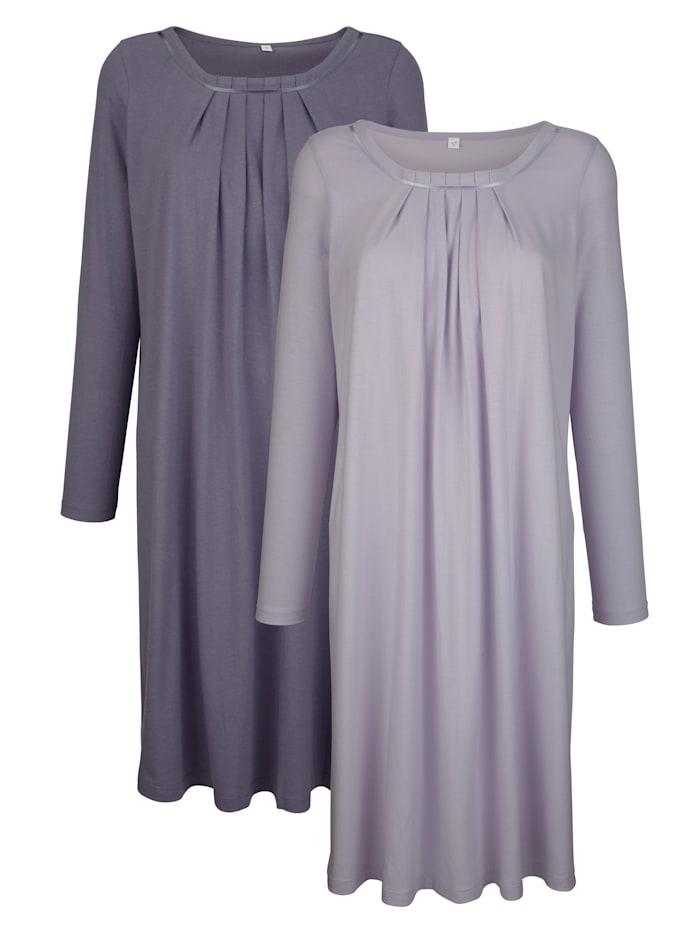 Blue Moon Nachthemden aus Organic Cotton 2er Pack, flieder/lila