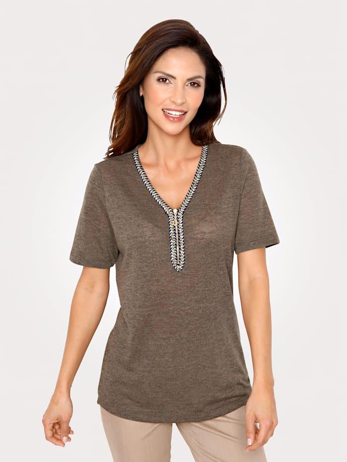 Shirt mit Zierreißverschluß