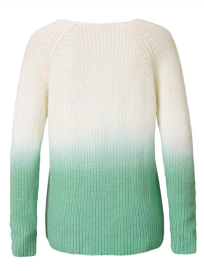 Pullover mit Dip-Dye Effekt