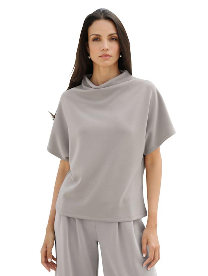 AMY VERMONT Shirt mit Stehkragen, Taupe