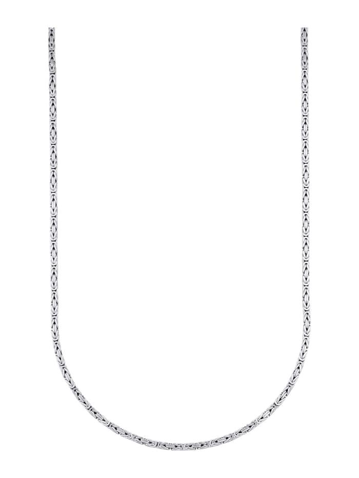 Halsband i kejsarlänk av silver 925, Silverfärgad