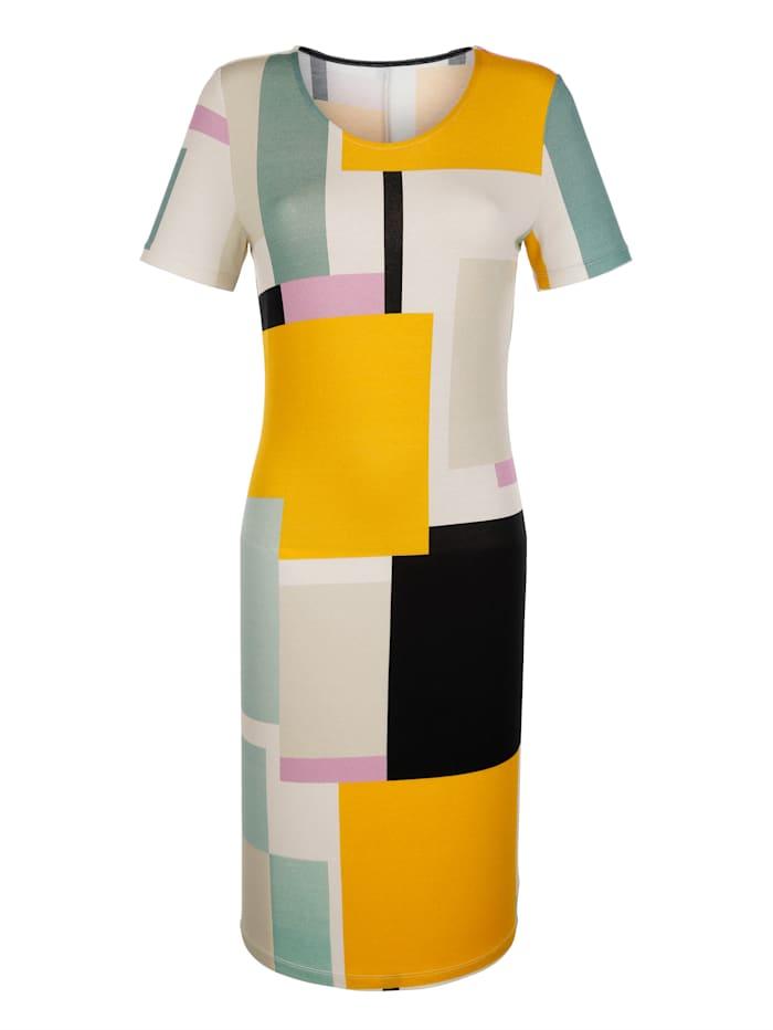 Jerseykleid mit grafischem Muster