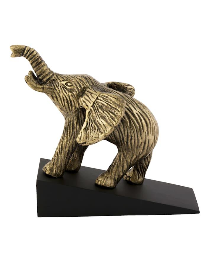 IMPRESSIONEN living Türstopper, Elephant, goldfarben