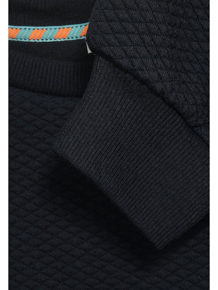Sweatshirt mit Strukturoptik
