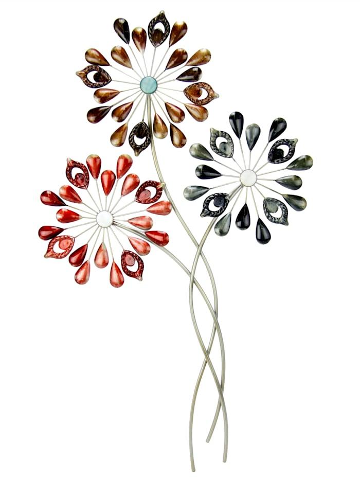 Wanddecoratie Bloemen, multicolor
