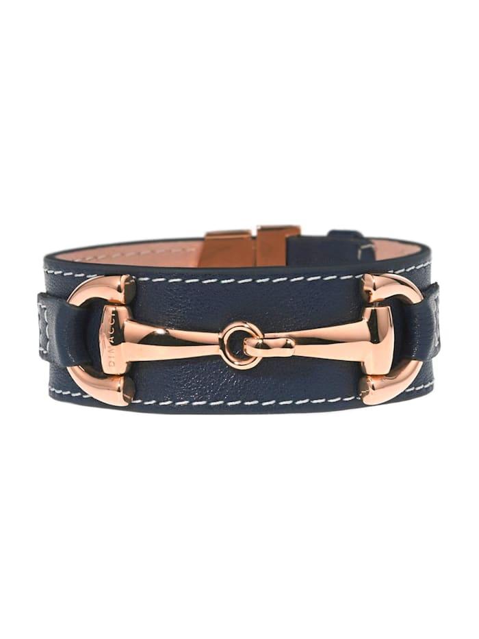Dimacci Dimacci Damen-Armband Edelstahl/Leder, grau