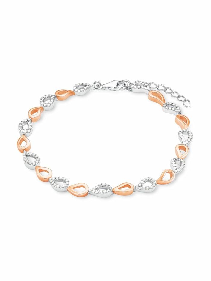 amor Armband für Damen, Sterling Silber 925, Zirkonia, Bicolor