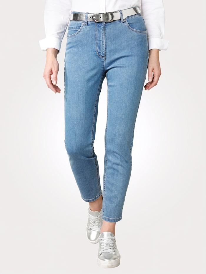 MONA Jean de coupe 5 poches sport, Bleu ciel