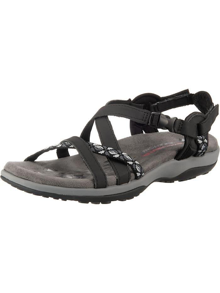 Skechers Reggae Slim Vacay Komfort-Sandalen, schwarz